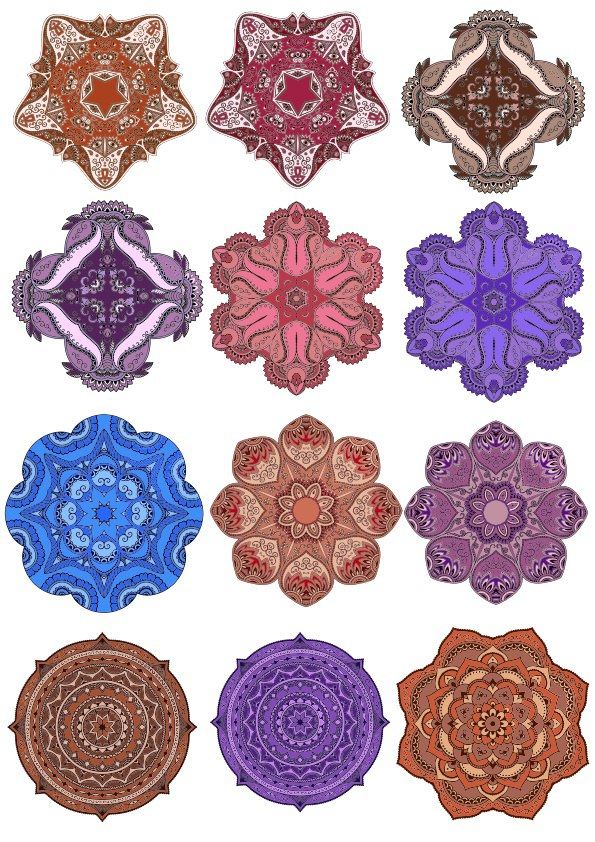 Decorative Round Mandala Vectors Free Vector