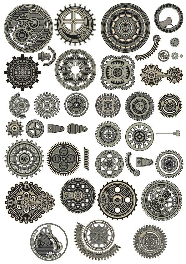 Steampunk Vectors Collection Free Vector