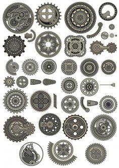 Steampunk Vectors Collection Free Vector