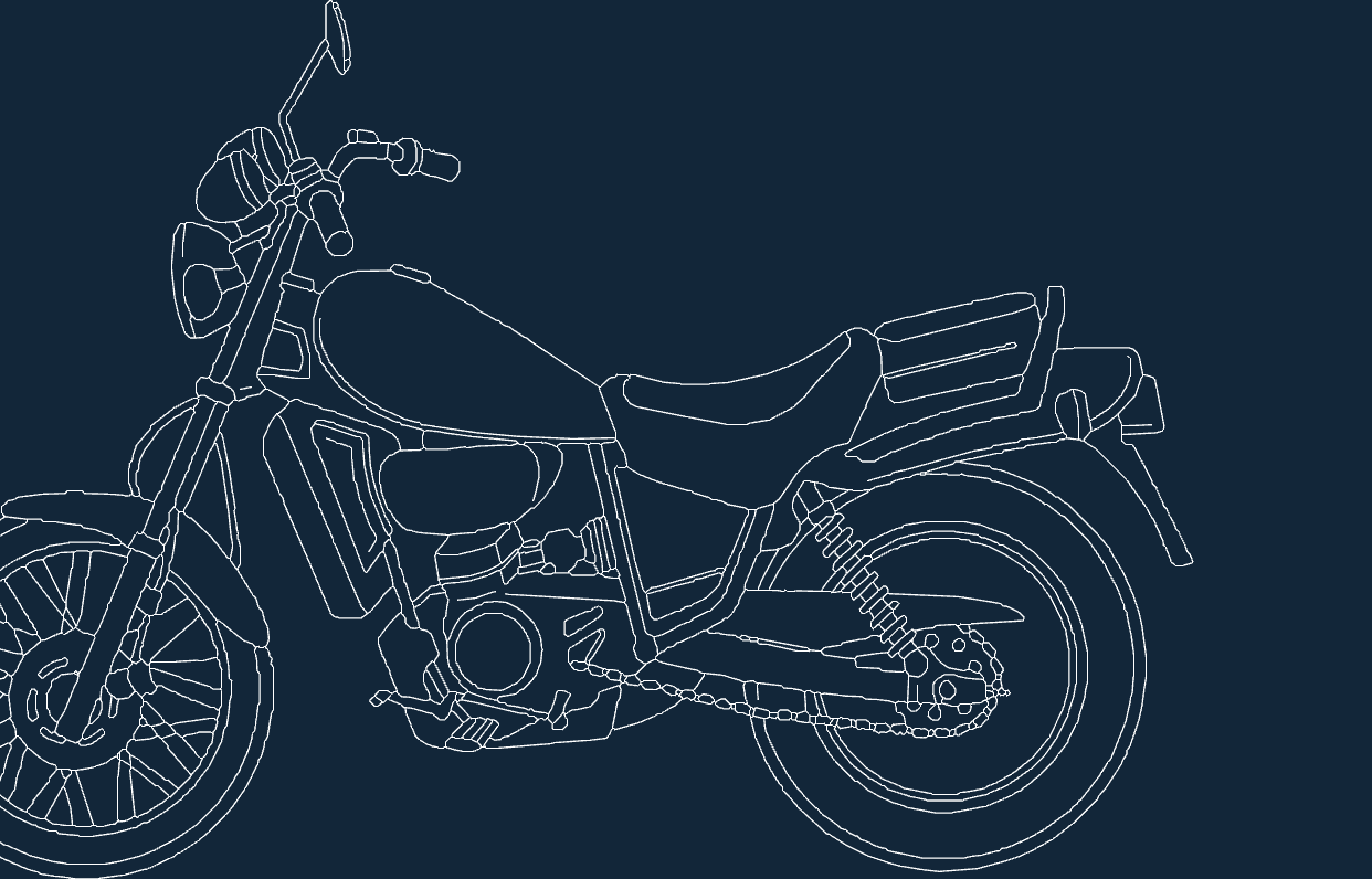 Motorcycle old dxf file