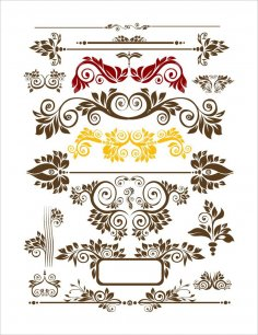 Seamless Floral Decor Free Vector