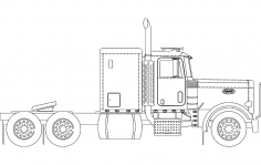 18 Wheeler Truck dxf File