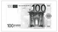 Laser Engraving 100 Euro Note Free Vector