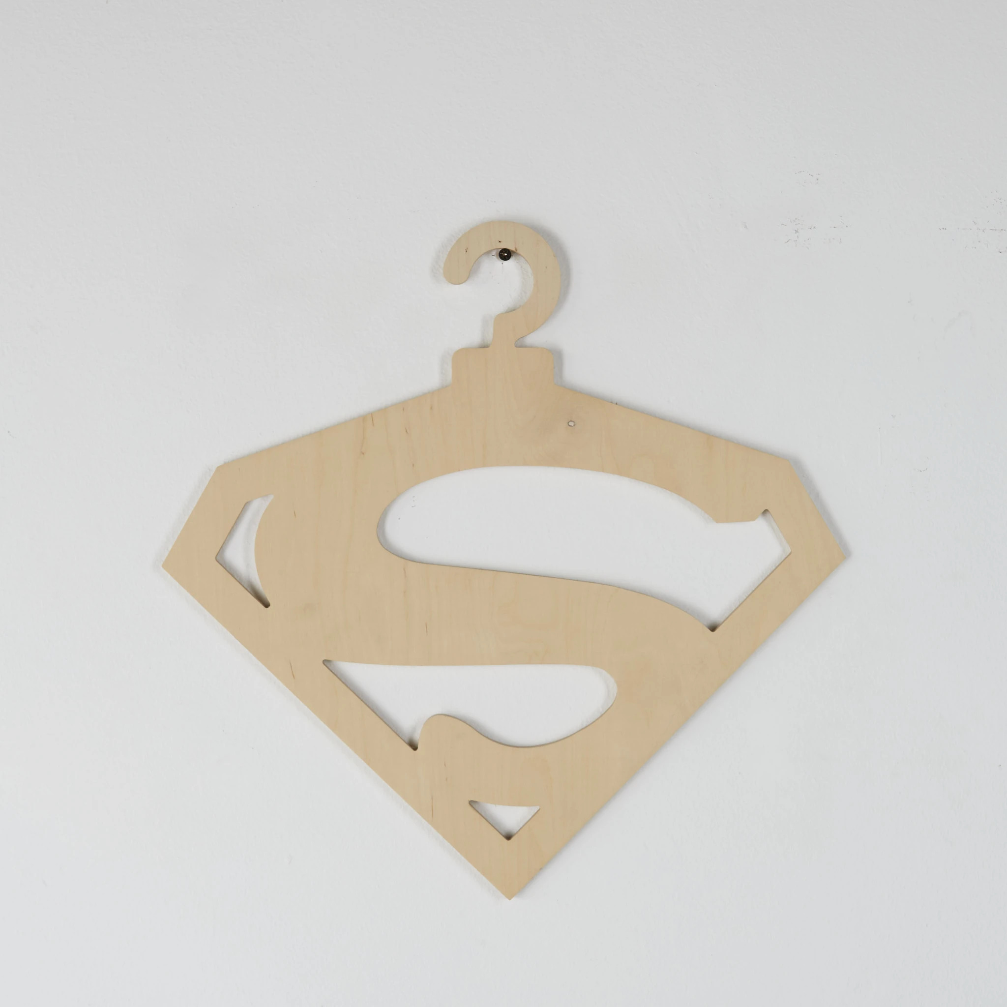 Laser Cut Superman Hanger Free Vector