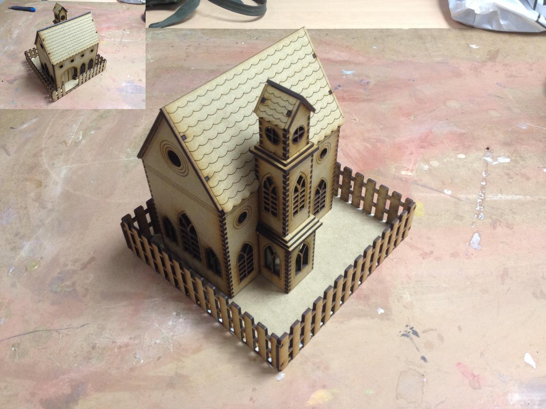 Laser Cut Church Model Template 3mm SVG File