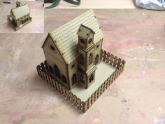 Laser Cut Church Model Template 3mm SVG File