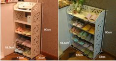 Laser Cut Shoe Rack Shelf Organizer Storage Free Vector