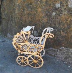Baby Strollers Pram Laser cut Free Vector