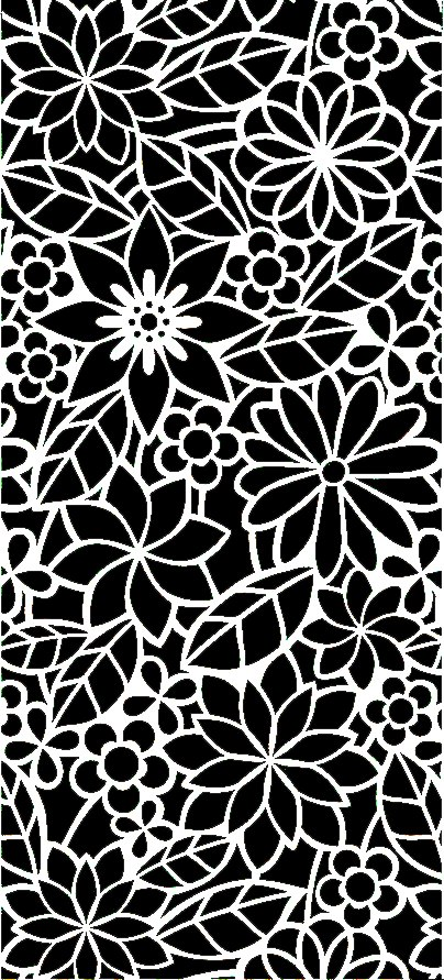 Abstract Floral Pattern DXF File