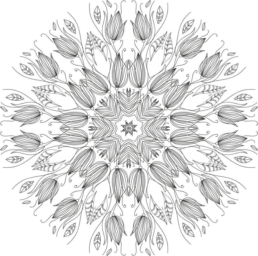 Floral Round Free Vector