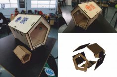 Laser Cut Dog House DXF File