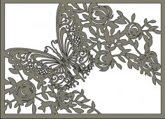 Laser Cut Butterfly Stencil Free Vector
