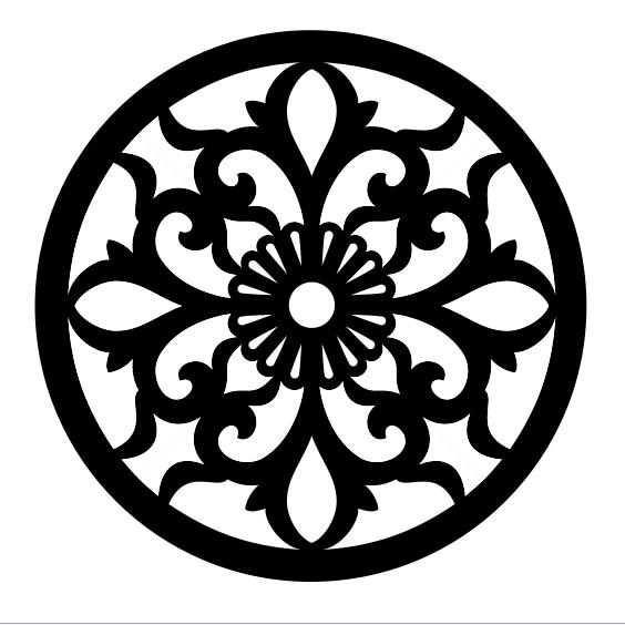 Laser Cut Circular Design SVG File