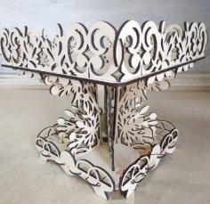 Laser Cut Table Decor Tray For Candy Fruits Basket Stand Free Vector