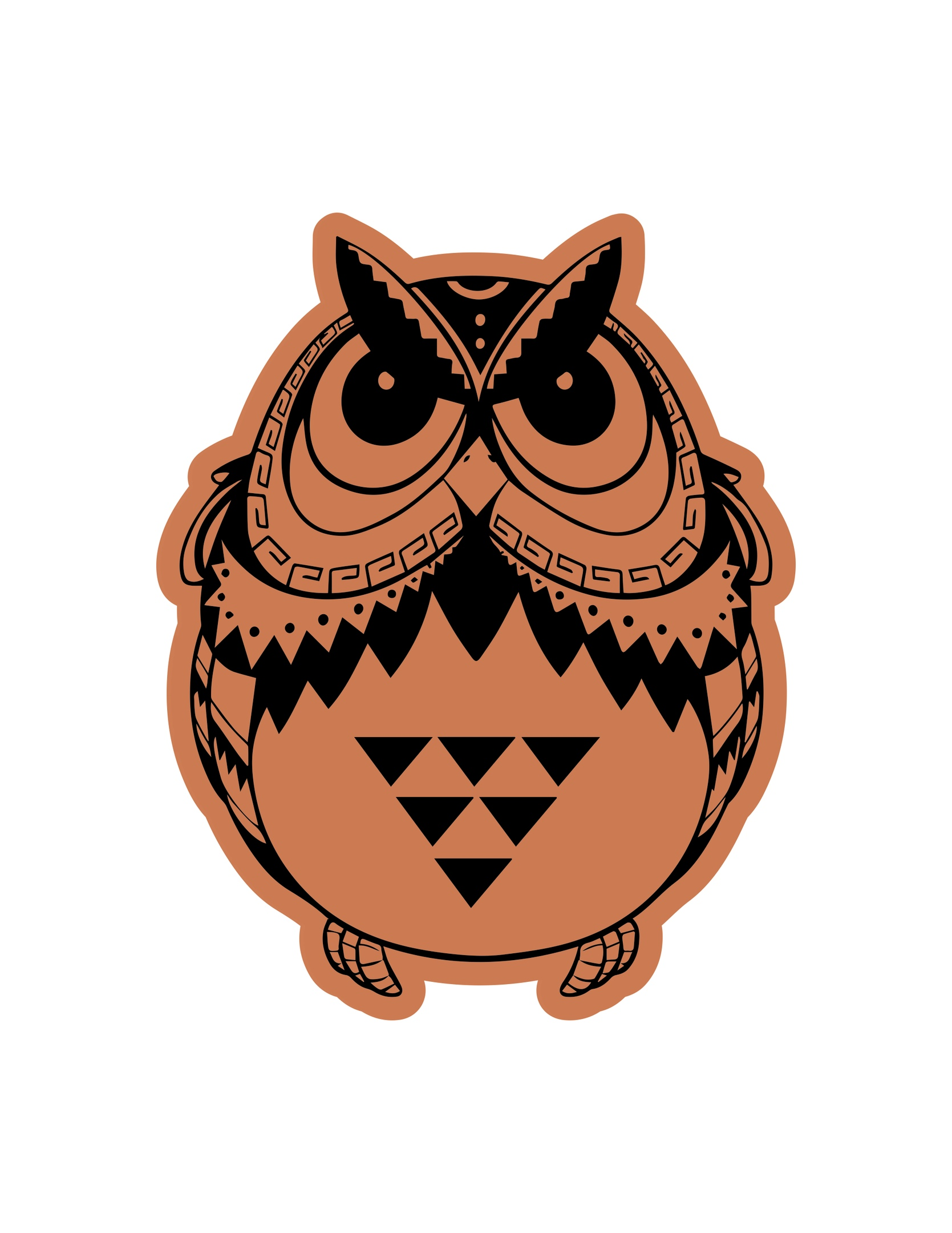 Owl Sitting Laser Cut Engraving Template Free Vector