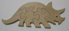 Rhinoceros Jigsaw Puzzle Laser Cutting Template DXF File