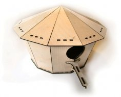 Laser Cut Bird House 2mm Plywood DXF File
