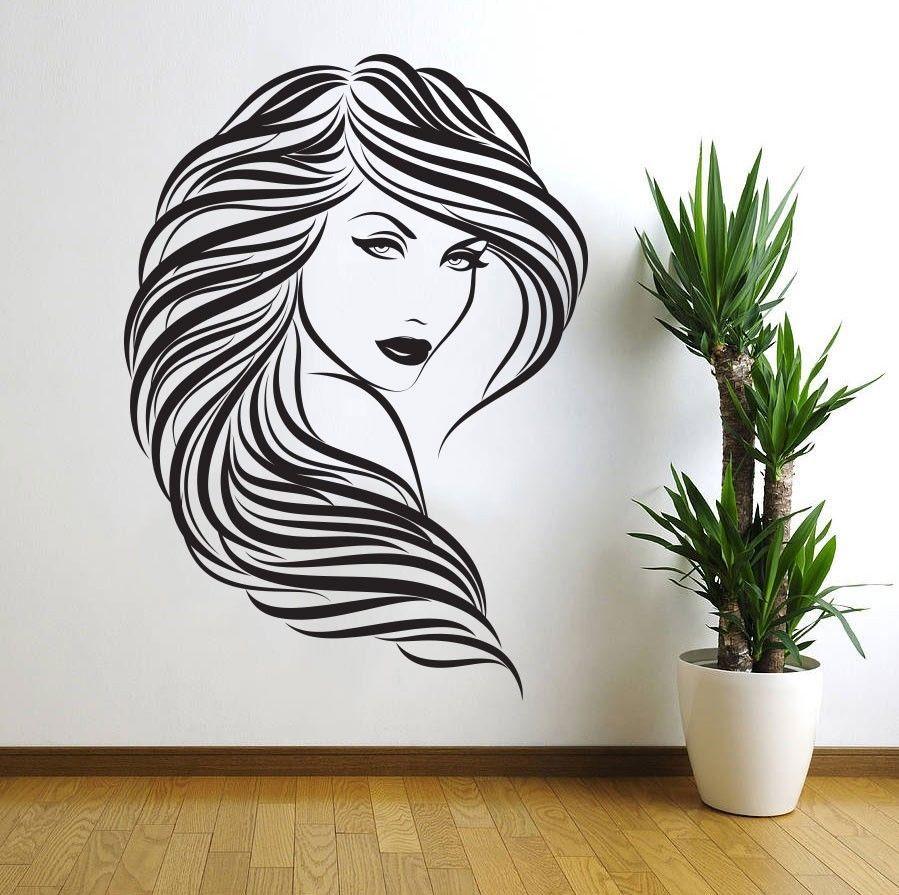 Laser Cut Lady Girl Woman Beauty Saloon Wall Art DXF File