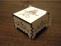 Laser Cut Small Wooden Box Trinket Box DXF File