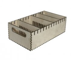 Laser Cut Wooden Crate With Dividers 3mm PDF File