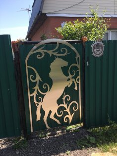 Laser Cut Horse Gate Plasma Cut Art DXF File