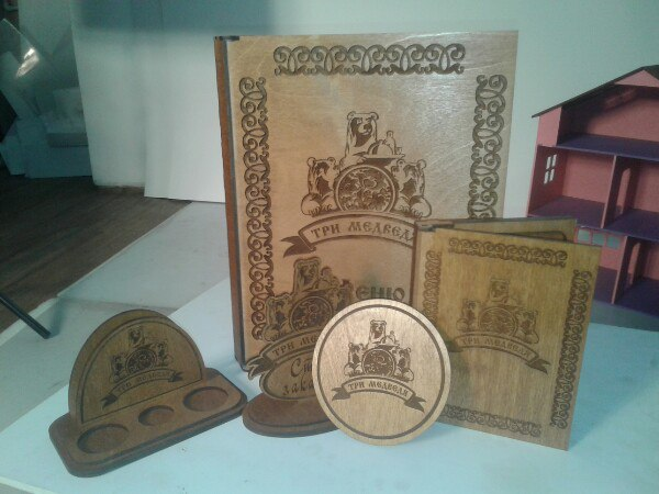 Laser Cut Restaurant Wooden Menu Card Holder Wooden Menu Cover Free Vector
