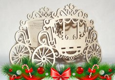 Laser Cut Carriage Flower Stand Candy Box Basket 4mm Free Vector
