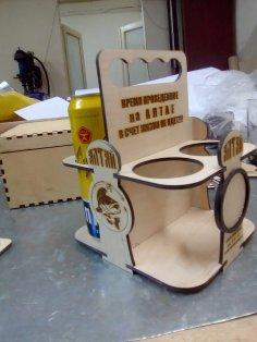 Laser Cut Plywood Beer Carrier Beer Caddy Free Vector