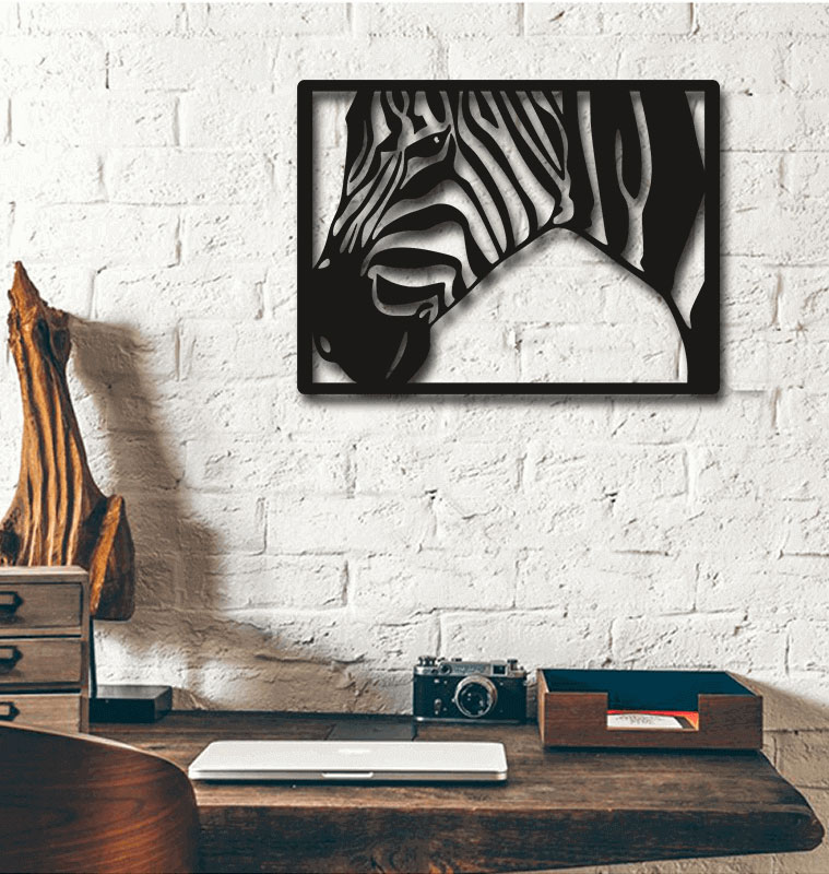Laser Cut Zebra Wall Decoration Home Decor Art Free Vector