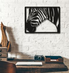 Laser Cut Zebra Wall Decoration Home Decor Art Free Vector
