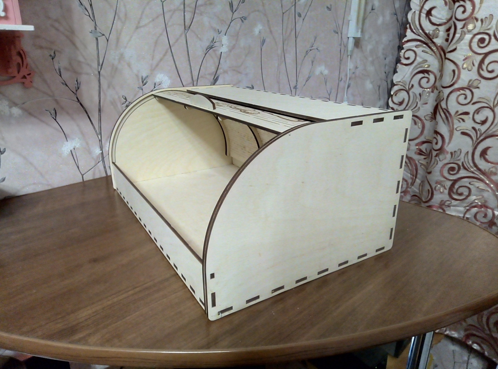 Laser Cut Bread Basket DWG File