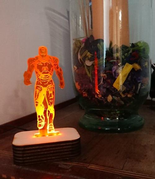 Laser Cut Iron Man 3D Night Light SVG File
