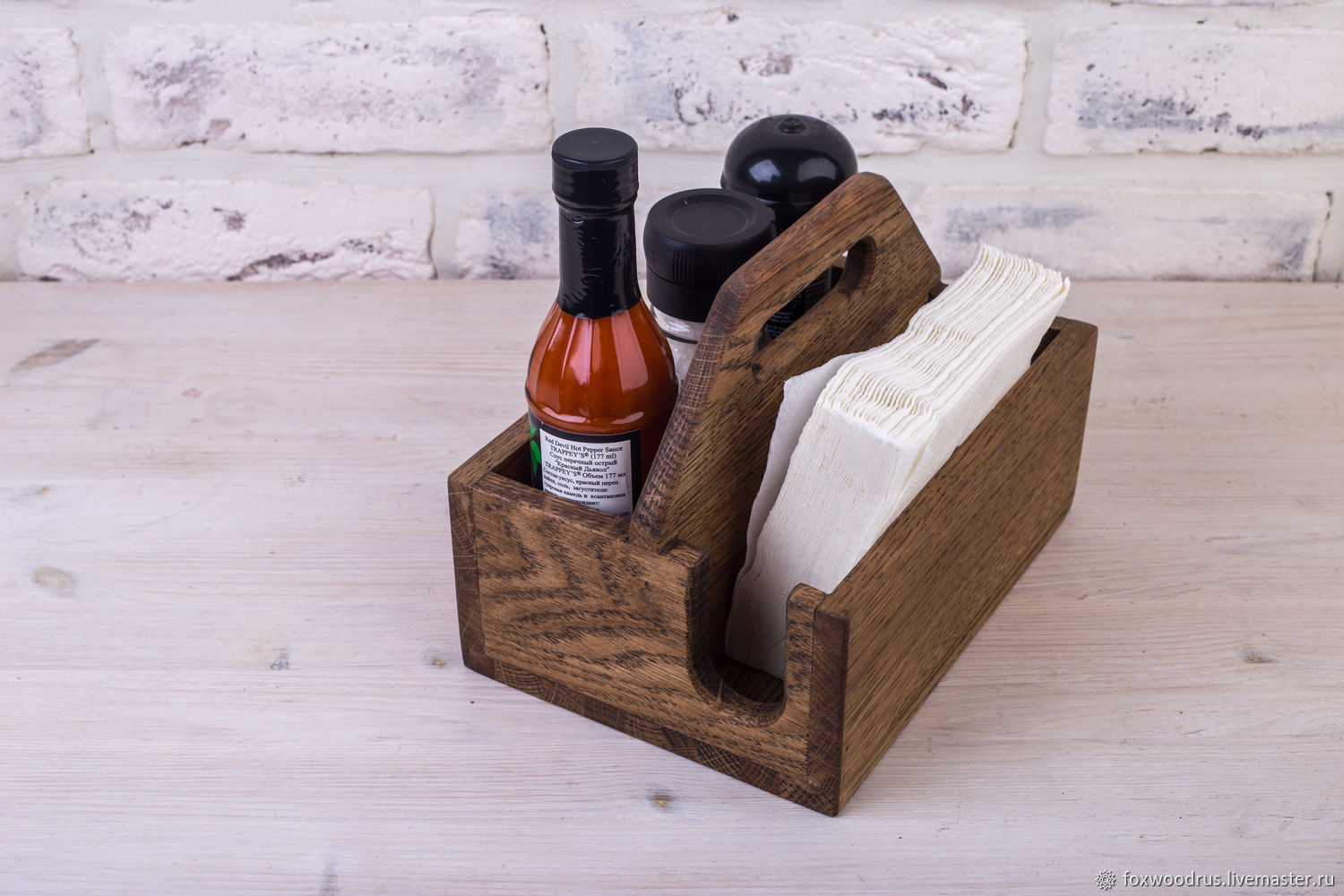 Laser Cut Stand For Spices And Napkins With Handle Free Vector
