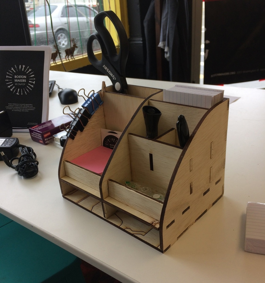 Laser Cut Desk Storage Organizer 6mm Free Vector