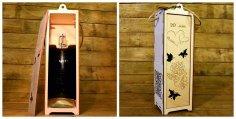 Laser Cut Wooden Wine Box Free Vector