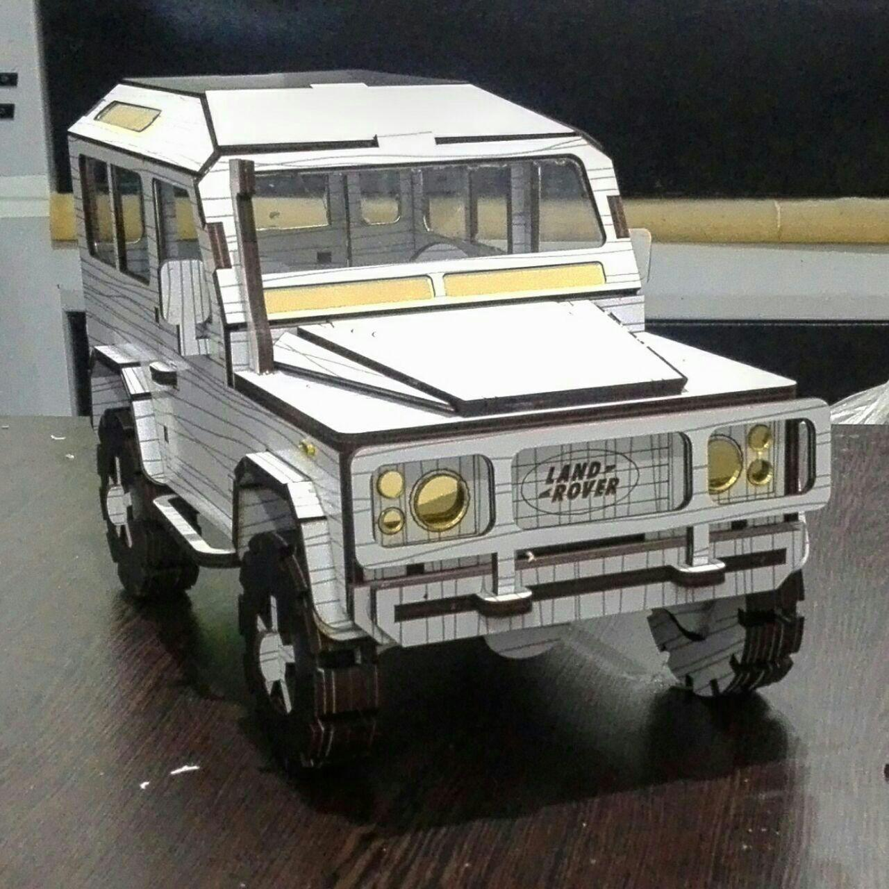 Land Rover Defender Laser Cut 3D Model Kit DXF File