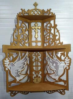 Laser Cut Iconostasis Wooden Shelf Plywood Free Vector