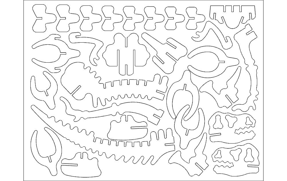 3d Puzzle Template – Desenhos Para Colorir