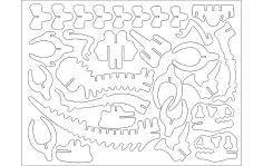 DINOTA 3D Puzzle DXF file