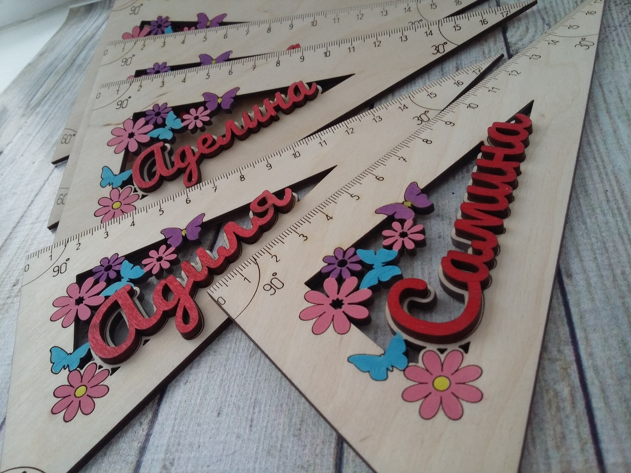 Laser Cut Personalised Wooden Rulers Free Vector