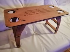 Laser Cut Table With Cup Holders DXF File
