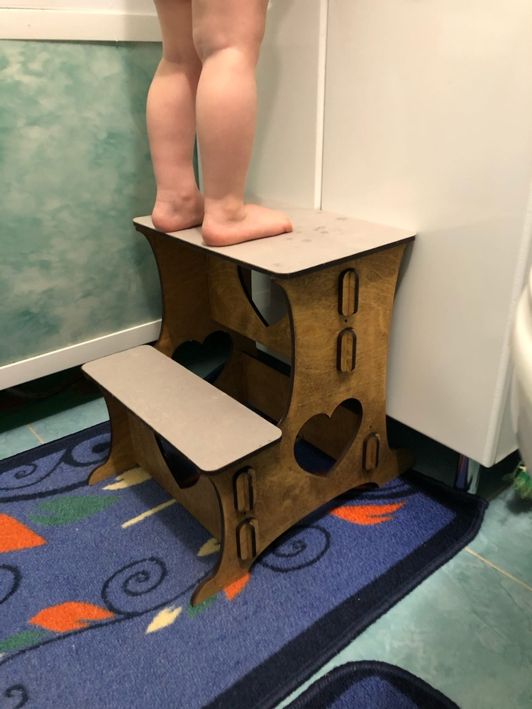 Laser Cut Kitchen Step Stool Tot Tower Toddler Step Stool Free Vector