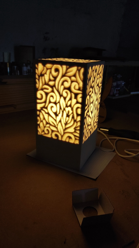 Laser Cut Decorative Night Light Lamp Free Vector