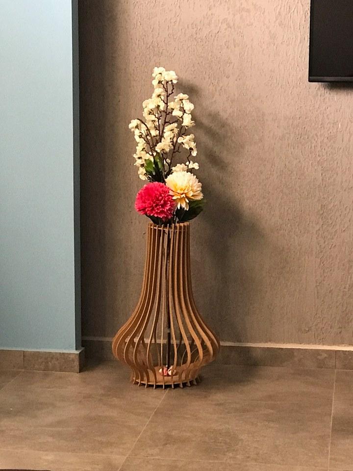 Laser Cut Vase Flower Stand DXF File