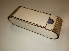 Laser Cut Portable Glasses Case 4mm Plywood SVG File
