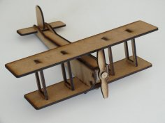 Laser Cut Double Wing Airplane 3mm DXF File
