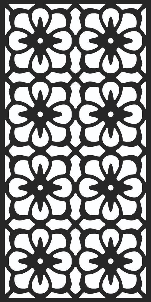 Laser Cut Decorative Screen SVG File