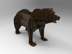 CNC Plasma Cut BBQ Grill Bear Template Free Vector