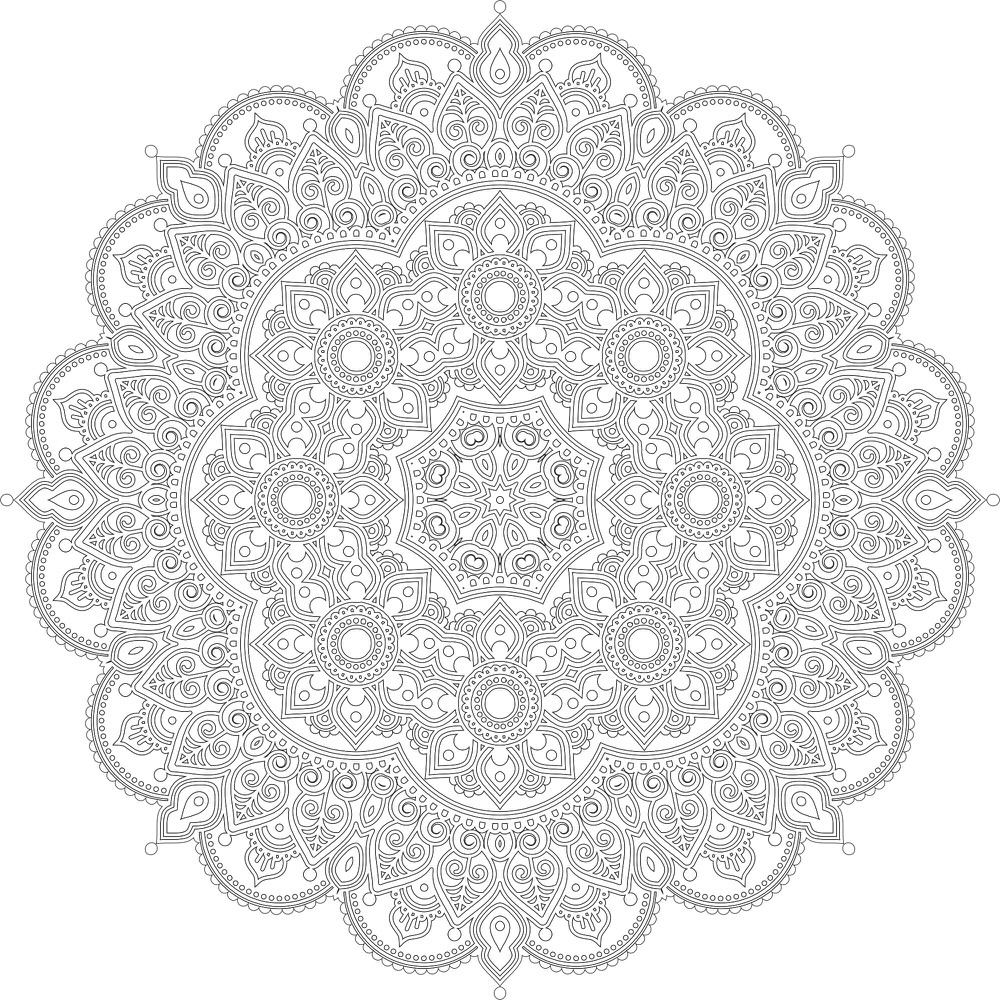 Decor Mandala Design Free Vector