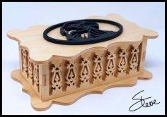 Laser Cut Decorative Wooden Box CNC Template PDF File